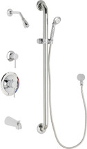 Chicago Faucets (SH-PB1-12-114) Pressure Balancing Tub and Shower Valve with Shower Head
