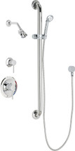 Chicago Faucets (SH-PB1-16-044) Pressure Balancing Tub and Shower Valve with Shower Head