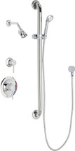 Chicago Faucets (SH-PB1-17-024)  Pressure Balancing Tub and Shower Valve with Shower Head