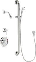 Chicago Faucets (SH-PB1-13-014)  Pressure Balancing Tub and Shower Valve with Shower Head