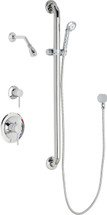 Chicago Faucets (SH-PB1-12-024)  Pressure Balancing Tub and Shower Valve with Shower Head.