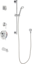 Chicago Faucets (SH-PB1-14-141)  Pressure Balancing Tub and Shower Valve with Shower Head