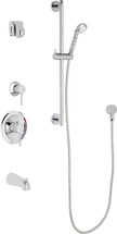 Chicago Faucets (SH-PB1-15-141)  Pressure Balancing Tub and Shower Valve with Shower Head