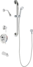 Chicago Faucets (SH-PB1-13-143)  Pressure Balancing Tub and Shower Valve with Shower Head