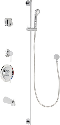 Chicago Faucets (SH-PB1-14-132)  Pressure Balancing Tub and Shower Valve with Shower Head