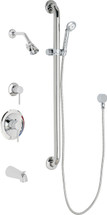 Chicago Faucets (SH-PB1-16-124)  Pressure Balancing Tub and Shower Valve with Shower Head