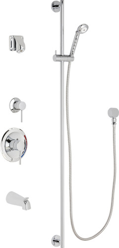 Chicago Faucets (SH-PB1-14-142)  Pressure Balancing Tub and Shower Valve with Shower Head