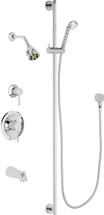 Chicago Faucets (SH-PB1-11-142)  Pressure Balancing Tub and Shower Valve with Shower Head
