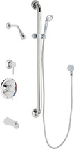 Chicago Faucets (SH-PB1-12-144)  Pressure Balancing Tub and Shower Valve with Shower Head