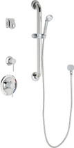 Chicago Faucets (SH-PB1-14-023)  Pressure Balancing Tub and Shower Valve with Shower Head