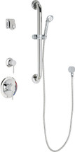 Chicago Faucets (SH-PB1-14-043)  Pressure Balancing Tub and Shower Valve with Shower Head