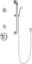 Chicago Faucets (SH-PB1-15-043)  Pressure Balancing Tub and Shower Valve with Shower Head