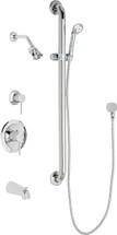 Chicago Faucets (SH-PB1-17-124)  Pressure Balancing Tub and Shower Valve with Shower Head