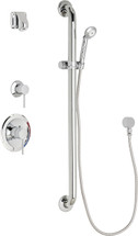 Chicago Faucets (SH-PB1-15-014)  Pressure Balancing Tub and Shower Valve with Shower Head