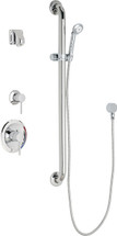 Chicago Faucets (SH-PB1-14-024)  Pressure Balancing Tub and Shower Valve with Shower Head