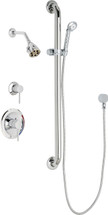 Chicago Faucets (SH-PB1-11-024)  Pressure Balancing Tub and Shower Valve with Shower Head