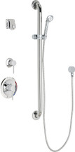 Chicago Faucets (SH-PB1-14-044) Pressure Balancing Tub and Shower Valve with Shower Head