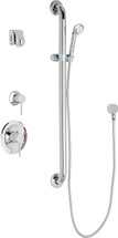 Chicago Faucets (SH-PB1-15-044)  Pressure Balancing Tub and Shower Valve with Shower Head
