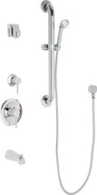 Chicago Faucets (SH-PB1-14-143)  Pressure Balancing Tub and Shower Valve with Shower Head