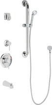 Chicago Faucets (SH-PB1-15-143)  Pressure Balancing Tub and Shower Valve with Shower Head