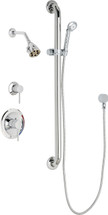 Chicago Faucets (SH-PB1-11-044)  Pressure Balancing Tub and Shower Valve with Shower Head