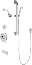 Chicago Faucets (SH-PB1-11-143) Pressure Balancing Tub and Shower Valve with Shower Head