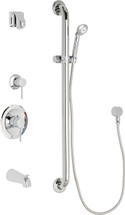Chicago Faucets (SH-PB1-15-134)  Pressure Balancing Tub and Shower Valve with Shower Head