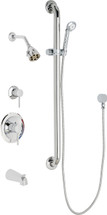 Chicago Faucets (SH-PB1-11-124) Pressure Balancing Tub and Shower Valve with Shower Head