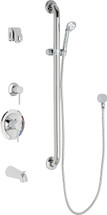 Chicago Faucets (SH-PB1-15-144)  Pressure Balancing Tub and Shower Valve with Shower Head