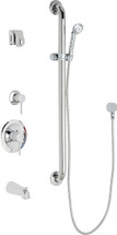 Chicago Faucets (SH-PB1-14-124)  Pressure Balancing Tub and Shower Valve with Shower Head