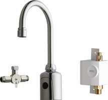 Chicago Faucets (116.963.AB.1)  HyTronic Gooseneck Sink Faucet with Dual Beam Infrared Sensor