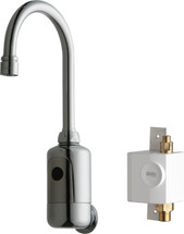 Chicago Faucets (116.934.AB.1)  HyTronic Gooseneck Sink Faucet with Dual Beam Infrared Sensor