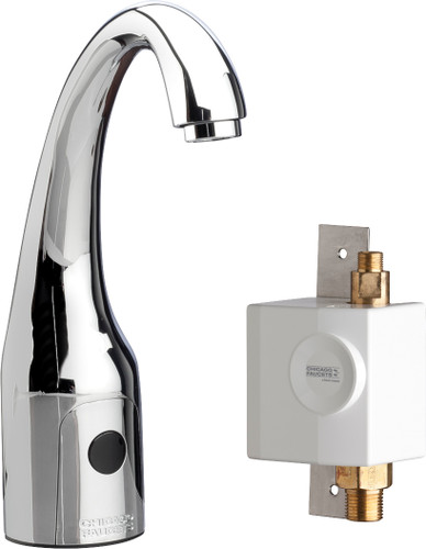 Chicago Faucets (116.937.AB.1)  HyTronic Curve Sink Faucet with Dual Beam Infrared Sensor