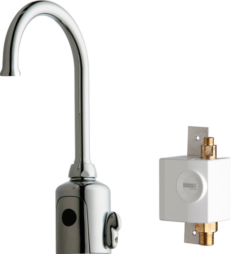 Chicago Faucets (116.945.AB.1)  HyTronic Gooseneck Sink Faucet with Dual Beam Infrared Sensor
