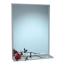 "ASI (10-0625-2420) Mirror - Stainless Steel, Chan-Lok Frame w/ Shelf - Plate Glass - 24""W X 20""H"