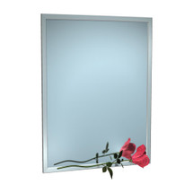 """ASI (10-0600-6218) Mirror - Stainless Steel, Inter-Lok Angle Frame - Plate Glass - 62""""W X 18""""H"""