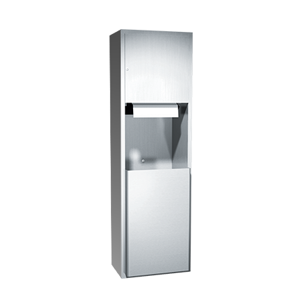 ASI (10-04692AC-9) Automatic Roll Paper Towel Dispenser & Waste Receptacle, 110-240VAC-Surf. Mtd.