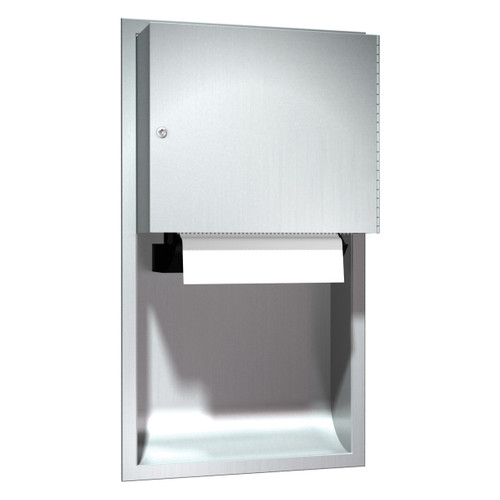 ASI (10-045224A) Automatic Roll Paper Towel Dispenser, Battery Operated - Recessed