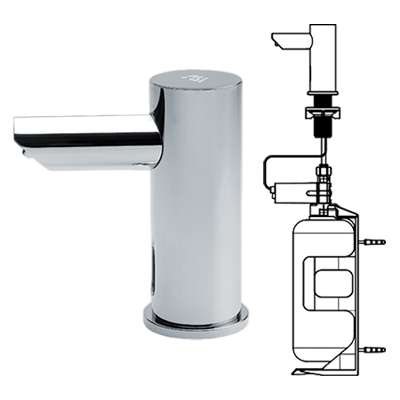 ASI (10-0391-6-1A) EZ-Fill, Individual Soap Dispenser with 1 Liter Bottle, Battery Operated, 6 Pack SKU (with Remote Control)