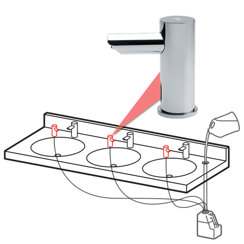 ASI (10-0390-1AC) EZ-Fill, Top Fill, Multi Feed Soap Dispenser Head, Plug in Version