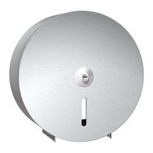 "ASI (10-0042) Single 9"" Roll Toilet Paper Dispenser - Stainless Steel - Round"