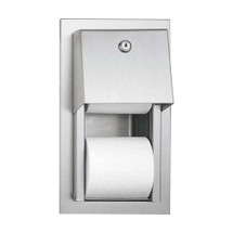 ASI (10-0031) Toilet Paper Dispenser, Twin Hide-A-Roll - Recessed