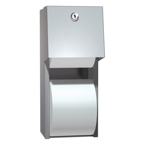 ASI (10-0030) Toilet Paper Dispenser, Twin Hide-A-Roll - Surface Mounted