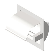 ASI (10-7402-HBW) Recessed Single Toilet Paper Holder with Hood-Bright, For Wet Wall Installation (Requires Clamp Model #39)