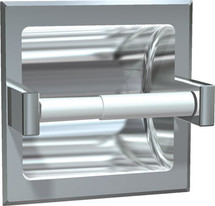 ASI (10-7402-SW) Recessed Single Toilet Paper Holder-Satin, For Wet Wall Installation (Requires Clamp Model #39)