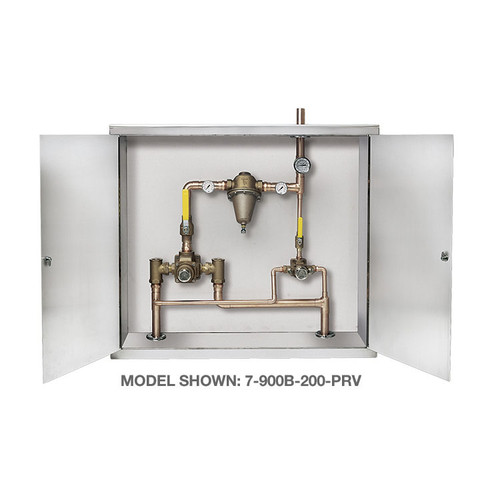 Symmons (7-400B-102-PRV) TempControl Hi-Low Thermostatic Mixing Valve and Piping System in Cabinet