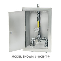 Symmons (7-500B)TempControl Thermostatic Mixing Valve and Piping Assembly in Cabinet
