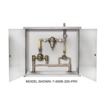 Symmons (7-500B-102-PRV) TempControl Hi-Low Thermostatic Mixing Valve and Piping System in Cabinet