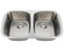 Polaris P015-16 Double Bowl Stainless Steel Sink