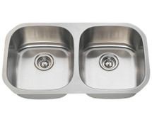 Polaris P205-16 Double Bowl Stainless Steel Sink
